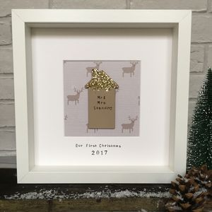 Personalised 'Our First Home' Christmas Frame - christmas home accessories