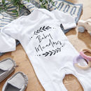 Personalised Newborn Babygrow