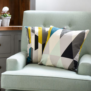 Geometric Prisma Cushion - cushions