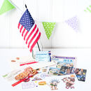 USA Themed Activity Set With Flag