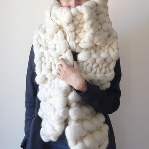 Classic Chunky Knit Long Scarf
