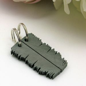 'Our Song' Sound Wave Key Rings Set