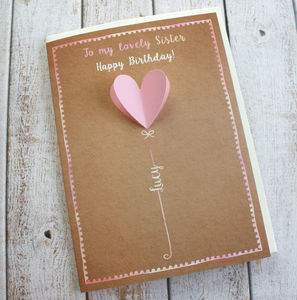 Personalised 3D Birthday Card - birthday cards