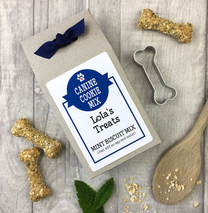 Personalised 'Bake Your Own' Dog Biscuit Mix + Cutter - dogs