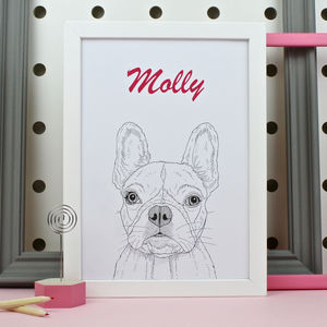 Personalised French Bulldog Print - pet portraits