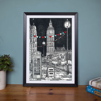 Personalised Big Ben News Announcement Print