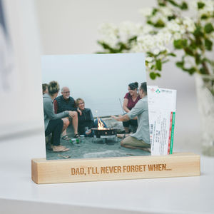 Personalised Photo Block - gifts for fathers