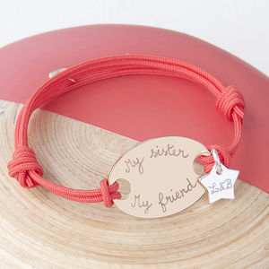 Personalised Oval Plate Bracelet - first father's day