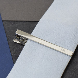 Initial Personalised Tie Clip - winter sale