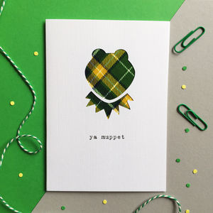 Ya Muppet Scottish Tartan Card