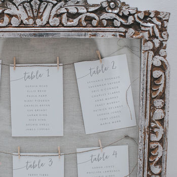Isabelle Table Plan Cards