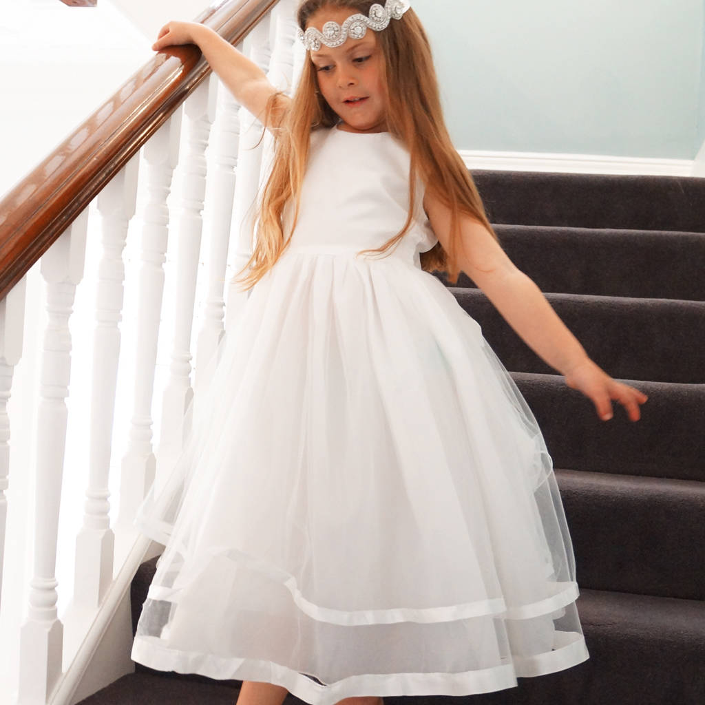 Flower girl dresses notonthehighstreet rose flower girl dress first communion in ivory flower girl dresses izmirmasajfo