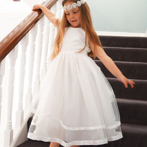 Rose ~ Flower Girl Dress | First Communion In Ivory - flower girl dresses