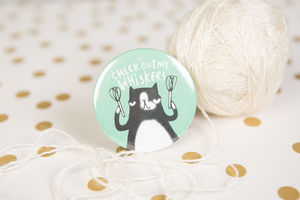 'Check Out My Whiskers' Badge