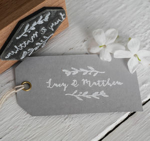 Name Flourish Stamp - diy stationery