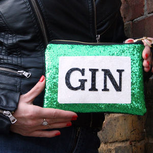 Juniper Gin Glitter Clutch Bag - our favourite gin gifts