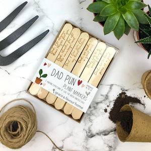 Personalised Funny Plant Marker Set For Dad