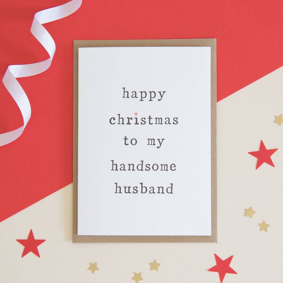 Husband or wife christmas card by the two wagtails husband or wife christmas card kristyandbryce Choice Image