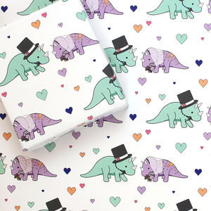 Dinosaur Wedding Wrapping Paper - wrapping paper
