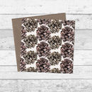 Pine Cone Pattern Christmas And Greetings Cards