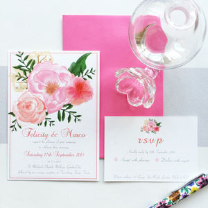 Romantica Floral Wedding Invitation Collection - invitations