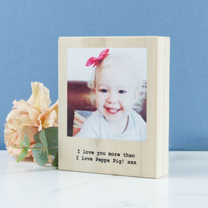 Personalised Wood Photo Block Polaroid - prints & art