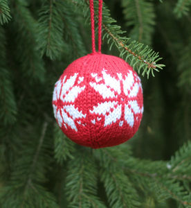 Christmas Tree Knitted Decoration