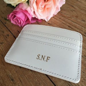 Personalised Leather Card Holder - new season accessories