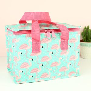 Flamingo Lunch Bag - new in garden