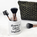 'Sass Construction' Make Up Brush Pot