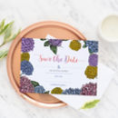 Floral 'Dahlia' Wedding Save The Dates Pack Of 10