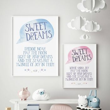 Girls Boys Bedroom Print