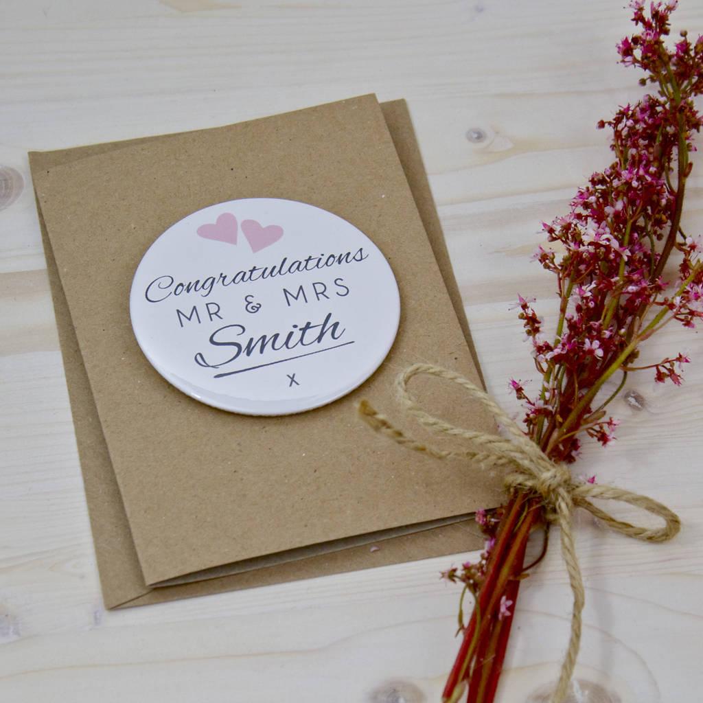 Wedding Congratulations Magnet Card By Bedcrumb Notonthehighstreet Com