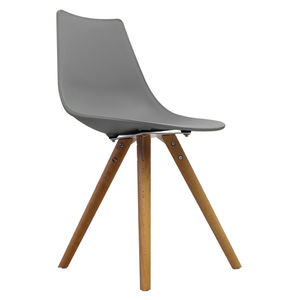 Cool Grey Oslo Chair With Wooden Legs - furniture