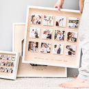 Personalised Wedding Wooden Framed Photo Print