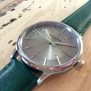 'Confluence' Silver And Green Unisex Watch - watches