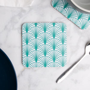 Geo Leaf Coaster Set Of Four