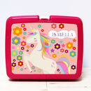 Personalised Girls Plastic Lunch Box