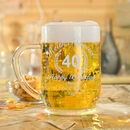 Engraved 40th Birthday Glass Tankard In Box