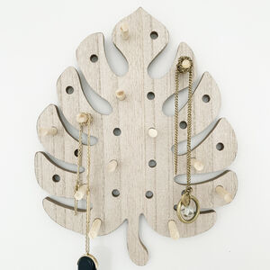 Monstera Leaf Wooden Peg Board