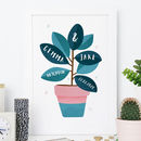 Botanical Wedding Print