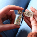 Personalised Map In A Bottle Keepsake Gift