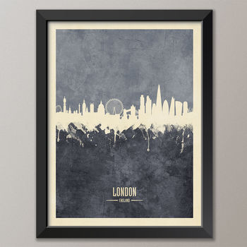 London Skyline Art Print Poster (frame not included)