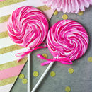 Giant Raspberry Prosecco Lollipop