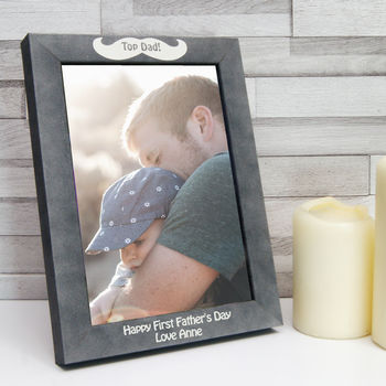 Personalised Stone Effect Father's Day Photo Frame