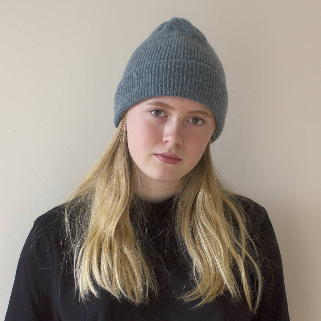 eaf223fe615 lambswool beanie hat in 12 colours by sally nencini ...