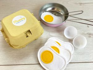 Pretend Play Felt Food Eggs