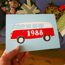 Campervan Special Birth Year Card