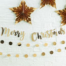 Gold Foiled Merry Christmas Bunting