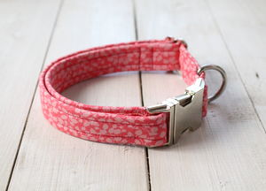 Agatha Liberty Fabric Dog Collar - dogs
